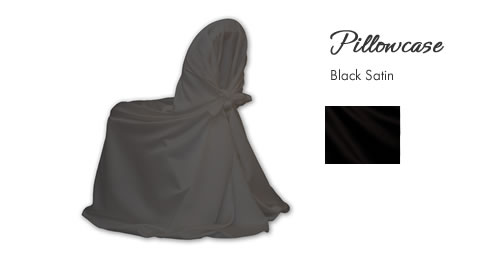 Chair Cover Rentals, Pillowcase Black