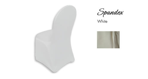 Chair Cover Rentals, Spandex White