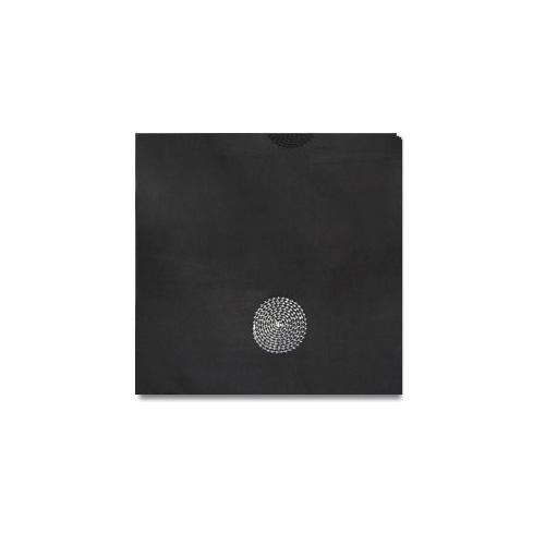 Black Circle Taffeta Linen Rentals