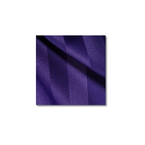 Purple Polyester Satin Stripe Linen Rentals