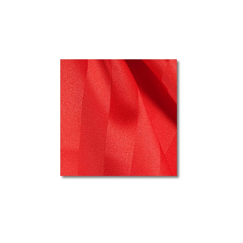 Red Polyester Satin Stripe Linen Rentals