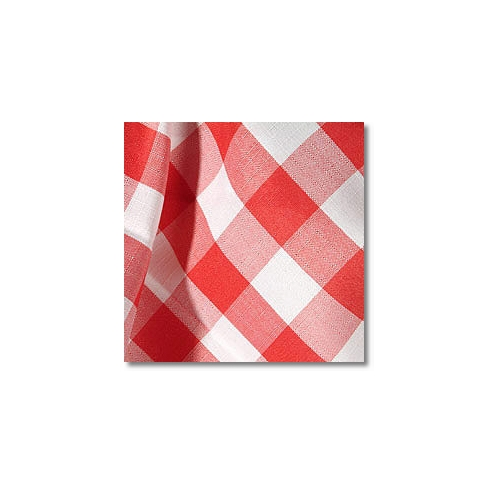 Red Check Novelty Linen Rentals