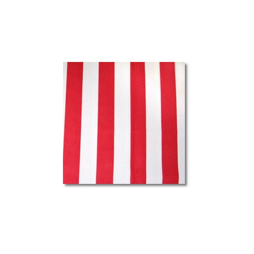 Red White Stripes Novelty Linen Rentals