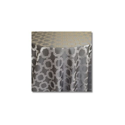 Striking Silver Nancy Graphic Linen Rentals