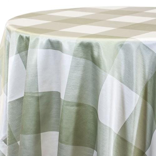 Soft Green Big Plaid Linen Rentals