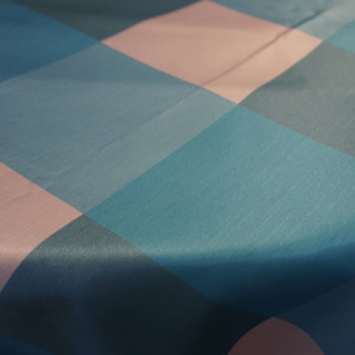 Big Plaid, Turquoise Blush on Table