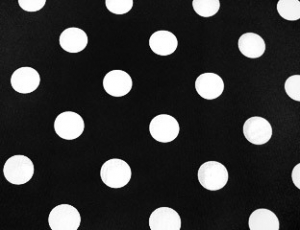 White Black Polka