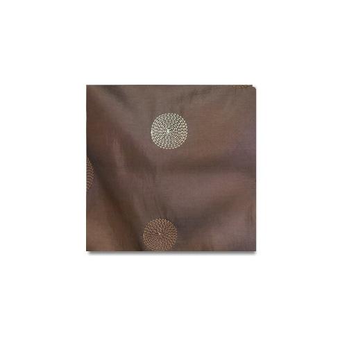 Brown Circle Taffeta Linen Rentals