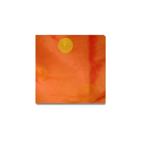 Orange Circle Taffeta Linen Rentals