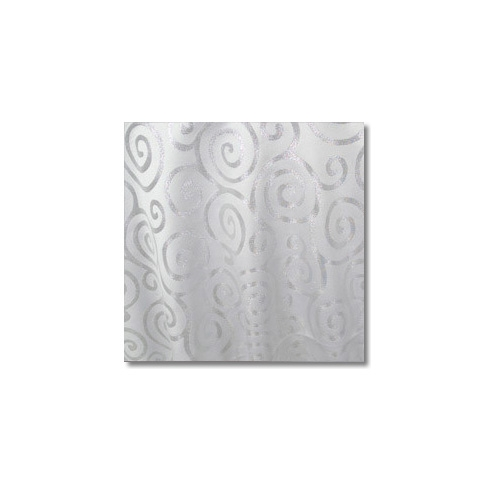 White Silver Metallic Scroll