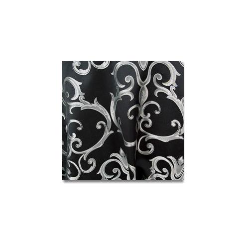 Black Silver Chopin Linen Rentals