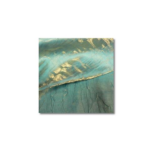 Gold Turquoise Iridescent Crush Linen Rentals