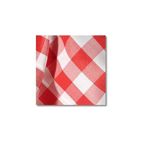 Red Check Novelty Linen Rentals