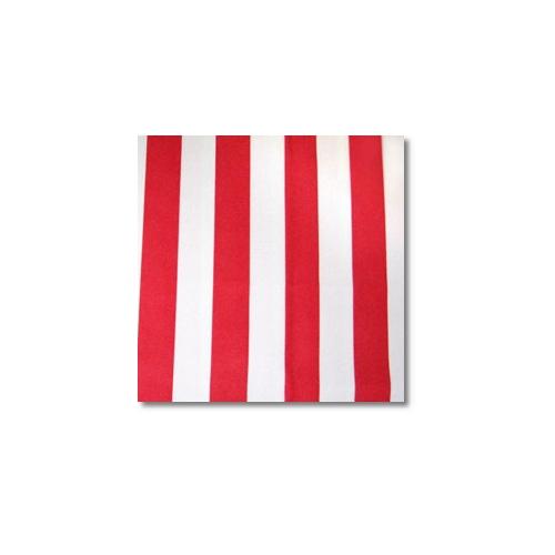 Red White Stripes Novelty Linen Rentals