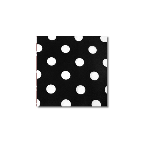 White Black Polka Novelty Linen Rentals