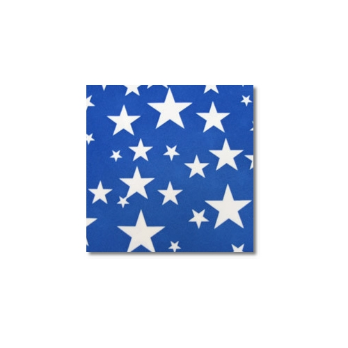 White Blue Stars Novelty Linen Rentals