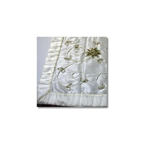 Ivory Beaded Cake Linen Rentals