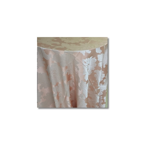 Blush Peach Alex Damask Linen Rentals