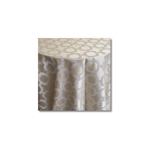 Ivory Champagne Nancy Graphic Linen Rentals