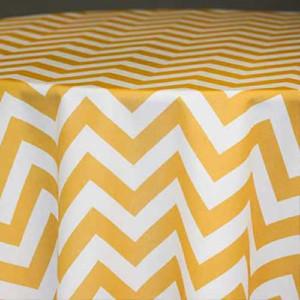 Yellow Chevron Linen Rentals