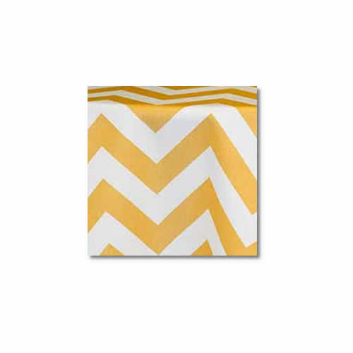 Yellow Chevron Linen Rentals