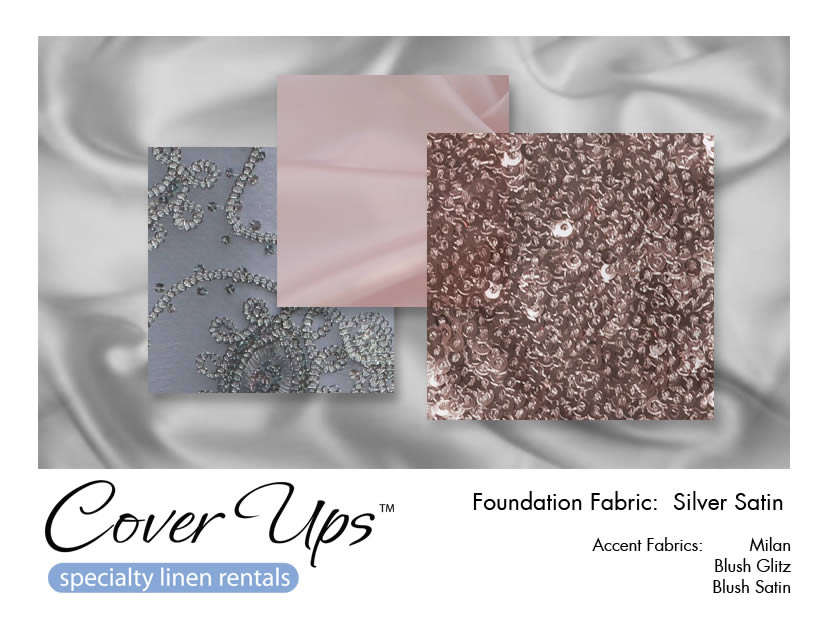 Silver Satin Linen Rentals Storyboard