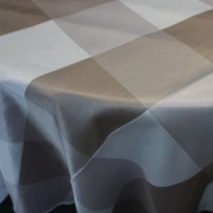 Big Plaid, Taupe on Table