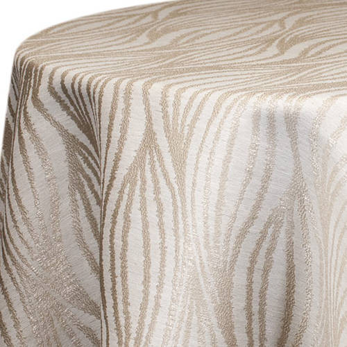 Poncey Wave Champagne Linen Rentals
